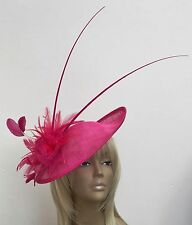 Bespoke New Design Hot/Fuchsia Pink Womens Hat Wedding Mother Of The Bride/Groom
