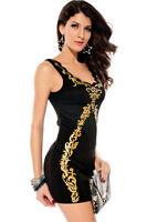 Vestido Mujer Elegante Atractivo Mini Noche Chica Fiesta Moda Corto Manga Corta