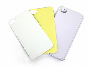 Choose Quantity-Hard Blank iPhone 4 Custodia in White for Heat