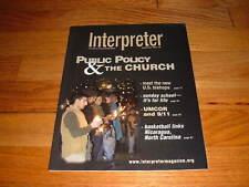 INTERPRETER United Methodist Church Magazine RARE UMCOR 9/11/BASKETBALL/2004