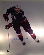 Patrick Kane Signed Usa Olympics Sochi 16x20 Blackhawks
