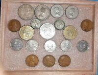 Vintage World Coin and Currency Collector Hoard 8 Ounces Coins 8 Bank Notes