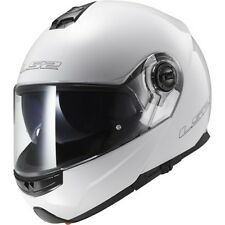 LS2 FF325 Strobe Gloss White Modular flip up Motorcycle/Motorbike helmet XL