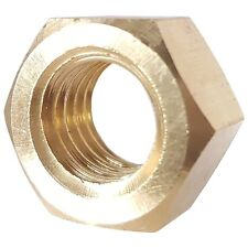 Solid Brass Hex Nuts Full Size Bright Finished All Sizes And Quantities