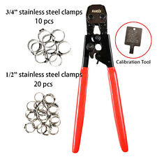 """IWISS PEX CINCH Crimper for Stainless Steel Clamps from 3/8""""- 1"""" with Free Clamp"""