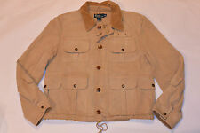 RALPH LAUREN POLO MEN'S CANVAS HUNTING JACKET! HUGE POCKETS! VINTAGE STYLE! M