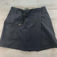 *REI Womens Black Size 10 Skirt UPF 30+ Belted Nylon Hiking Outdoor Wrap Skirt
