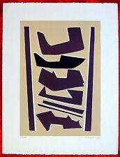 ALBERTO MAGNELLI  linoleum a colori 1970 LA MAGNANERIE DE LA FERRAGE (ns rif 31)