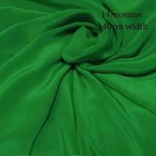 #6W (Fem green)140cm wide 14momme 100%Pure SILK Crepe De Chine Fabric +button