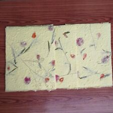 20 Sheets Yellow Mulberry Flowers of Pressed Botanical Handmade Paper Book Craft