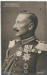Portrait Kaiser Wilhelm II. in Garde-Artillerie-Uniform Volle Ordenspracht Super