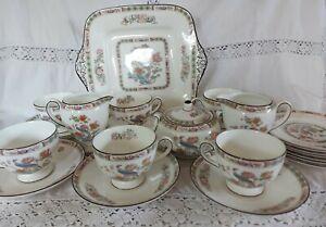 Wedgwood Kutani Crane 22 Piece Tea Set
