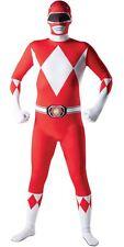 OPENBOX Adult Red Power Ranger Mighty Morphin 2nd Skin Fancy Dress Bodysuit Mens