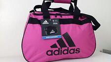 ADIDAS Diablo Small II Duffel Bag Intense Pink Black Sport Gym Travel Carry NWT