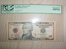 2004-A $10 Federal Reserve Star Note PCGS Atlanta District 68 PPQ Fancy #2900