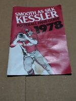 1978 KESSLER'S SMOOTH AS SILK FOOTBALL FANS GUIDE BOOKLET NFL NCAA