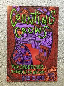 Counting Crows Fillmore Concert Poster F144 1994 Third Eye Blind