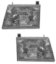1992 - 2007 FORD ECONOLINE VAN HEADLIGHTS HEADLAMPS LIGHTS LAMPS PAIR