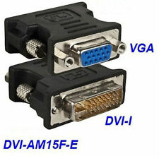 DVI-I Male to VGA 15-Pin Female Video Monitor Adapter, CablesOnline DVI-AM15F-E