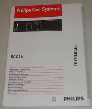 Operating Instructions Philips Car Radio RC 026 Stand 10/1996