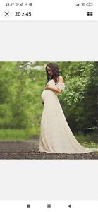 Pregnant Women Lace Long Dress Photography Photo Shoot Maternity Party Gown UK