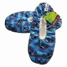 NWT STITCH DISNEY SNUGGLE TOES WOMEN'S SLIPPERS SOCKS WITH GRIPPERS SIZE 4-10