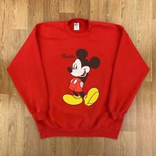 Vintage MICKEY MOUSE FLORIDA Mens Sweatshirt | Retro USA Disney | XL Red