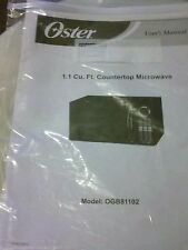 Oster 1.1 Cu. Ft. Microwave Model OGB81102 Manual User Guide