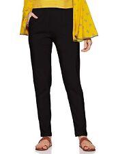 Women's Capri Cropped Leggings Cotton Fabric Four-Way Stretchable New