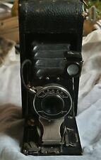 Seneca Trio Folding Camera, RARE Antique, 1916 WWI Era /w Exposed Film Roll