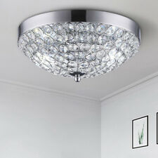 Modern Crystal Ceiling Light Chandelier Lamp Flush Mount Pendant Fixture 2-Light