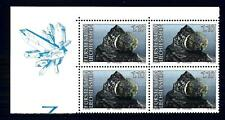 LIECHTENSTEIN - 1989 - Minerali. 1° serie - 1.10 (Fr) - Quartina angolo di fogli