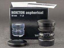 Voigtländer Norton 50mm 1.5 asphärisch VM für Leica M schwarz FOTO-GÖRLITZ