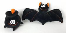 Vintage Halloween Boo Beans Bat And Cauldron Decoration Plush So Cute!