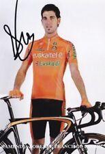 CYCLISME repro PHOTO ARAMENDIA JOREME FRANCISCO JAVIER équipe EUSKALTEL  signée