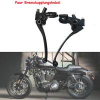 Motorrad Roller Bremse Kupplungshebel Kupplung schwarz für 22mm 7/8'' Lenker