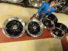 "15"" NEW staggered set BLACK TORQ wheels S-10 sonoma S10 blazer 15x8 _15x7 5x4.75"