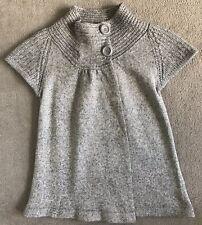 ~ SPORTSCRAFT ~ Womens Button Up Wool Knit Vest Jacket ~ Grey ~ Size XS