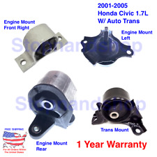 New Engine Motor & Transmission Mount set 4PCS for 2001-2005 Honda Civic 1.7L