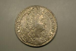 LOUIS XIV ECU TROIS COURONNES 1709 A SUPvariètècouronne cotè du cou poids 30gr30