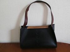 Marks and Spencer Autograph Black & Brown leather hand bag,