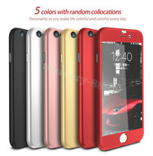 IPAKY 360° Hard Ultra thin Case + Tempered Glass Cover For iPhone 7/6/6S Plus