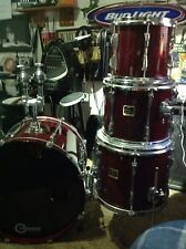 Yamaha Stage Custom Cranberry Red Drum Set Kit Shell Pack, Classic Lugs