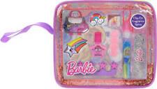 Barbie Unicorn Makeup Tote Bag Fragrance Spray,Nail Polish,Lip Gloss Gift Set