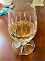 """WATERFORD CRYSTAL LISMORE SMALL 8 POINT STAR BRANDY GLASS -- 4-1/2"""" TALL"""