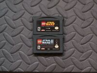 Lot Nintendo Game Boy Advance GBA Games LEGO Star Wars I and Lego Star Wars II