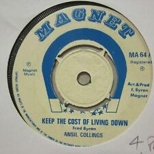 "Ansil Collins(7"" Vinyl)Keep The Cost Of Living Down-Magnet-MA 64-UK-197-Ex/VG+"