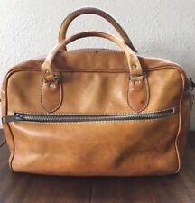 8b06927a7 Vintage Beige Bronceado De Cuero Natural BriefBag Bolsa pequeña maleta  maneja 16x12x6