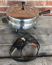 Farberware Electric Fry Pan Skillet 310-A Stainless Steel Dome Lid immersible