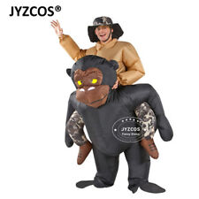 Inflatable Gorilla Rider Costume Men Women Outfit Halloween Xmas Party Cosplay